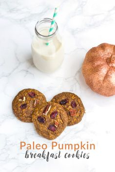 These Paleo Pumpkin Breakfast Cookies are the perfect way to start your day!