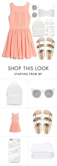 """""""Untitled #243"""" by rachelallegra ❤ liked on Polyvore featuring PB 0110, Alexander McQueen, GUESS by Marciano, Birkenstock, Chanel, Frette and River Island"""