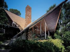 Dramatic gables of the Stebel House. Harry Gesner