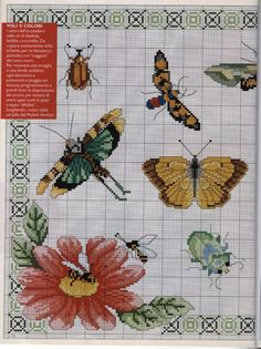 Cross stitch butterflies and chart. Gallery.ru / Фото #29 - 112 - mila29