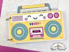 Boom Box Mini Album   Doodlebug Design Inc Blog   Traci   Scrapbooking albums ------------------------------------------------ #scrapbook #scrapbooking #scrap #ideas #projects #design #colourful #mini #album #minialbums #cards #tarjetas #envelopes #paper #handmade #DIY #hobby #crafting #craft #summer
