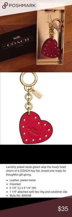 Coach Studded Heart Bag Charm Coach Studded Heart Bag Charm Coach Accessories