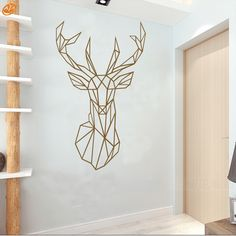 AYA DIY Wall Stickers Wall Decals, Geometric Deer Head Wall Sticker Type PVC Wall Stickers M42*70cm /L56*94cm-in Wall Stickers from Home & Garden on Aliexpress.com | Alibaba Group
