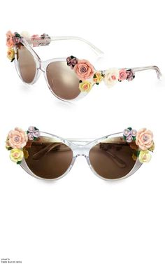 679dda6ff537f Dolce   Gabbana Garden Flowers Cat s-Eye Sunglasses Óculos De Sol Da  Oakley, Saída
