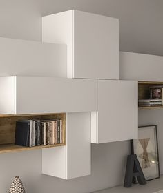 Sectional lacquered storage wall SLIM 88 - @dallagnesespa