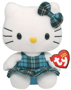 Ty Beanie Baby Hello Kitty - Aqua Plaid by Ty,  HELLO KITTY to buy just click on amazon here http://www.amazon.com/gp/product/B004LCXH3K?ie=UTF8=213733=393185=B004LCXH3K=shr=abacusonlines-20