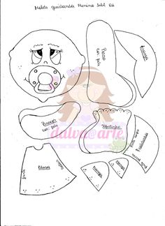 dalva@arte: plaquinha de porta menino baby com molde