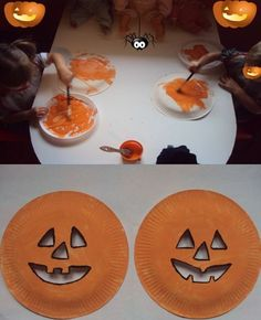 Kids craft Halloween pumpkins