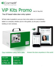 Save over £500 on true IP based entry kits by Comelit until 31st of May 2015! Main benefits of this type of #doorentrysystem is its simple installation and its complete control via portable device of the user's choice.