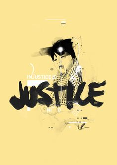 Peter Georgiou - He is a graphic designer and illustrator based in Melbourne, Australia. He's got a nice style that combines looser artistic drawn elements with typography and graphic design. This poster uses very soft colors and conveys its messages nobly about justice.