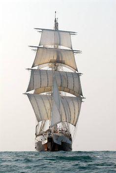 Classic Sailing holidays on tall ship Lord Nelson Old Sailing Ships, Make A Boat, Classic Sailing, Black Sails, Wooden Ship, Small Boats, Submarines, Tall Ships, Ship Art