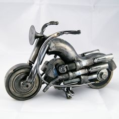 Original Motorcycle Sculpture by Giannis Dendrinos - Mexican Metal Yard Art Martial Arts Weapons, Martial Arts Styles, Metal Yard Art, Scrap Metal Art, Metal Sculpture Wall Art, Sculpture Ideas, Metal Sculptures, Old Farm Equipment, Globe Art