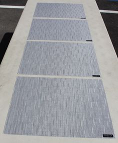 Lavender Bamboo Vinyl Rectangular Placemats set of 4 by Chilewich
