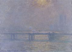 [프리즘의 발견] <차링크로스의 템즈 강> - 클로드 모네: 모네는 이 작품에서 매우 '런던적인' 풍경을 담아내고 싶었다고 전하고 있다. 그가 런던에서 가장 좋아하는 것은 바로 안개이며, 이 안개가 없다면 런던은 더 이상 아름다운 도시가 아니라고 언급할 정도였다. 안개 사이로 비치는 빛이 모네 특유의 인상주의적 표현 방식을 그대로 드러낸다.