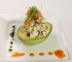 Florida Blue Crab Salad With Avocado - substitute greek yogurt for the mayonnaise