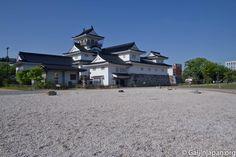 Le château de Toyama, pas l'un des plus célèbres châteaux japonais, mais il a du charme avec son parc.