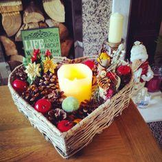 Christmas basket  #christmas #candle #decorations