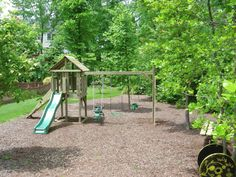 Backyard Playground   Gallery of our Hand-Made Custom Swing Sets & Playsets