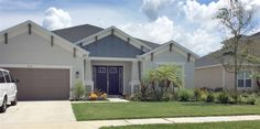 Homes in the Arbor Reserve community in Manatee County, Florida boast simple but appealing exteriors.