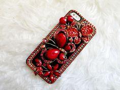 Hey, ho trovato questa fantastica inserzione di Etsy su http://www.etsy.com/listing/126278284/red-flowers-and-butterfly-design-retro