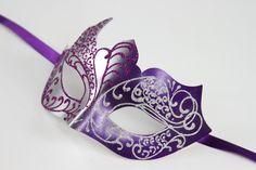 NEW Classic Silver/Purple Venetian Masquerade Mask PM002 Glitter Mask Unisex Mardi Gras Wedding Bridal Shower Prom