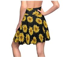For the sunflower lover in you ! Celebrate the great summer weather with this stretchy sunflower skater skirt! Sunflower Clothing, Sunflower Shirt, Mommy And Me Shirt, Mommy And Me Outfits, Custom Baby Gifts, Thing 1, Vintage Shirts, Cute Shirts, Skater Skirt