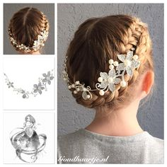 French braided updo with a beautiful hairaccessorie from Goudhaartje.nl