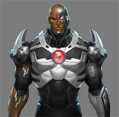 #Cyborg #Fan #Art. (Cyborg) By: Stanley Lau. ÅWESOMENESS!!!