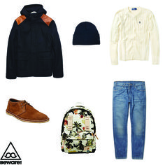 #Fashion Selection n°32 : Ralph Lauren sweater, Levi's jeans, Norse Project parka, Urban Outfitters shoes, American Apparel cap, Master-Piece x Nowartt bag : http://bewaremag.com/2013/06/02/selection-mode32/