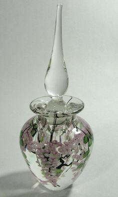 Art glass perfume bottle by Daniel Salazar