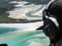 The pilot eyes up Hill Inlet on Whitsunday Island