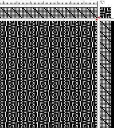 Weaving - 5-8 shaft weaving drafts.