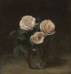 Artist: Henri Fantin-Latour, French, 1836-1904 Still Life with Roses