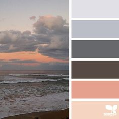 palette that combines shades of dark blue-gray and pastel tones