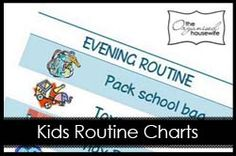 kids printable routine morning and evening charts