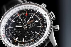 Conquer the World with one of the most classic wristwatches of all time. The Breitling Navitimer World (Ref. A24322). Breitling Navitimer, Breitling Watches, Wristwatches, Big Boys, All About Time, World, Luxury, Classic, Leather