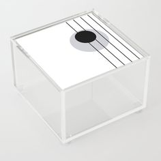 Lines and Curves - Black & White - Set 1 Acrylic Box by laec Good Advice For Life, Storage Places, Acrylic Box, Curves, Black And White, Store, Black White, Storage, Business
