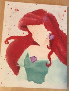 Disney The Little Mermaid Ariel Abstract Painting on Canvas (wine and canvas disney) Art Painting, Mermaid Painting, Painting, Disney Canvas, Disney Art, Art, Mermaid Art, Painting Art Projects, Canvas Painting