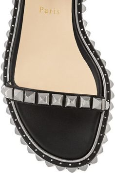 Christian Louboutin - Athossita 30 Studded Leather Sandals - Black - IT39.5