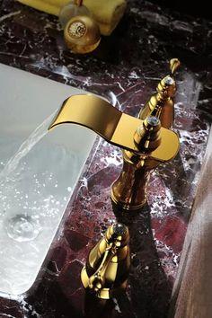 Luxury brass waterfall faucet --- www.faucetx.com