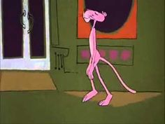 Pink Panther walks while I play a fitting music ... or not