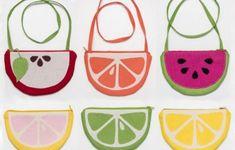 Esta bolsa em formato de frutas também pode servir como porta-trecos ou nécessaire (Foto: stitchedbycrystal.com)