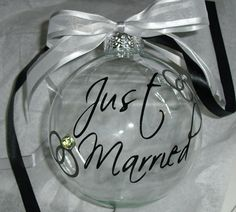 Another adorable wedding/first Christmas ornament. Also, totally DIY-able
