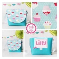 Kindergartentasche geht auf die Reise <3 mit Klettverschluss und süßen Cupcakes