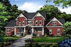 Farmhouse Style House Plan - 4 Beds 3.5 Baths 2546 Sq/Ft Plan #929-1039 - Houseplans.com