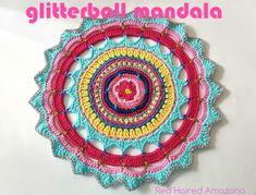 Glitterball Crochet Mandala by Red Haired Amazona A free pattern