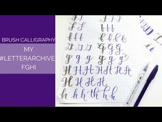 My #LetterArchive: How I Write FGHI - YouTube