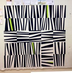 This picture represents line because it has a lot of lines that shape the whole piece. They arranged the lines going in different directions to give it dimension. Some of the lines are different sizes and lengths which makes you look all around the artwork. They all look similar but as a whole the whole piece of artwork is very complex.