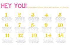Hey you... Modern wedding seating chart with customized colors