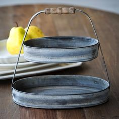 Petite 2 Tier Oval Serving Tray